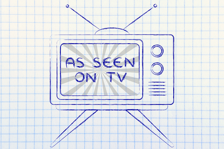 par�?s: concept of tv ads and marketing: old style television with text As Seen On Tv
