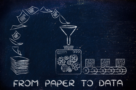 unorganized: from paper to data: factory machines turning unorganized documents into processed information