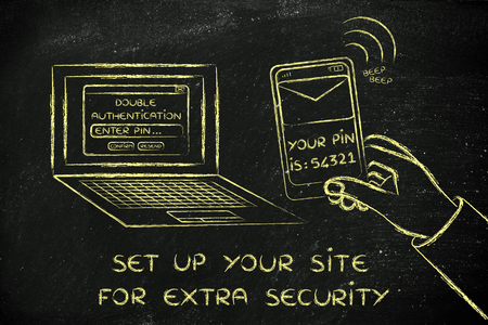 authentication: set up your site for extra security: computer and phone for double authentication