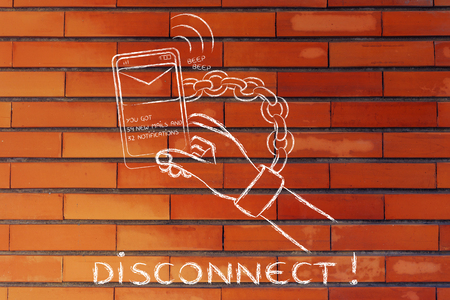 distraction: hand chained to a beeping mobile phone: excess phone usage time and the need to disconnect