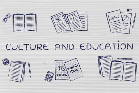 thesis: Culture and education: set of books and notes about various school subjects
