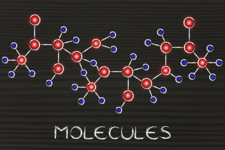 centres: molecule inspired illustration with glowing centres (atoms) and connections