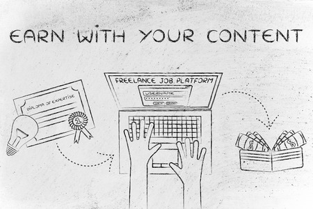 earn with your content: from diploma to laptop to cash