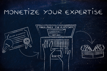monetize: monetize your expertise: from diploma to laptop to cash