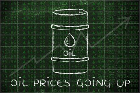 les prix du pétrole monter: le baril au cours bourse performance de l'indice de fond