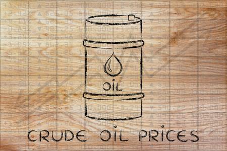 prix du pétrole brut: le baril au cours bourse performance de l'indice de fond Banque d'images