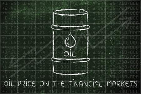 prix du pétrole sur les marchés financiers: le baril au cours bourse performance de l'indice de fond
