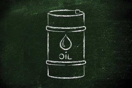 baril de pétrole, contour plat illustration Banque d'images