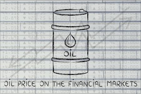 prix du pétrole sur les marchés financiers: le baril au cours bourse performance de l'indice de fond Banque d'images