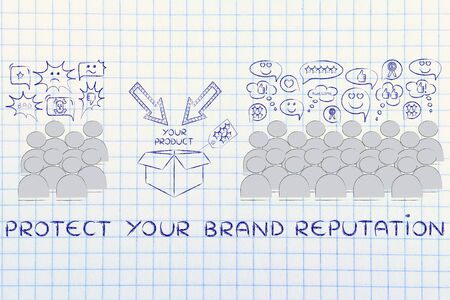opinions: protect your brand reputation: most people with good opinions about the product and a few disliking it