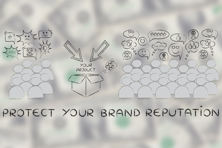 product reviews: protect your brand reputation: most people with good opinions about the product and a few disliking it