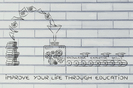 master degree: improve your life through education: machine elaborating books into knowledge, expertise & skills