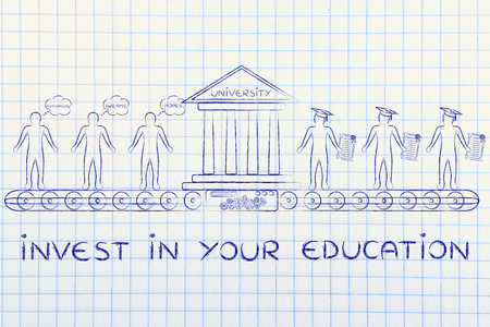 enrolled: invest in your education: machine turning enrolled students with dreams and motivation into graduates