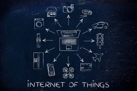 internet user: internet of things: laptop and connected devices