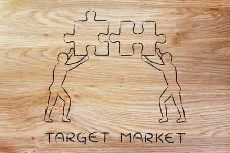 target market: target market: people with unique matching pieces of puzzle