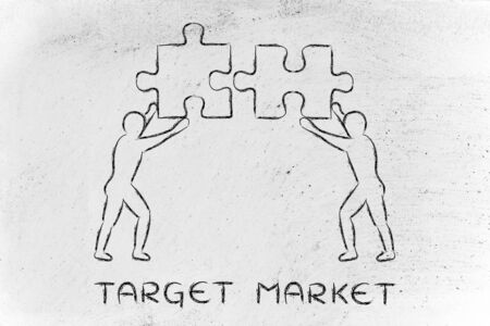 matching: target market: people with unique matching pieces of puzzle