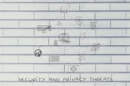 orbiting: security and privacy threats: internet threats orbiting around a laptop