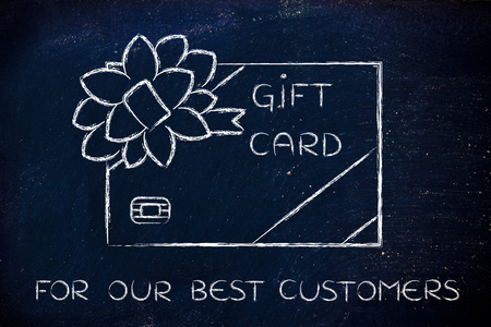 retailers: for our best customers: retailers gift card with wrapping bow