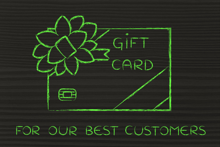 markdown: for our best customers: retailers gift card with wrapping bow