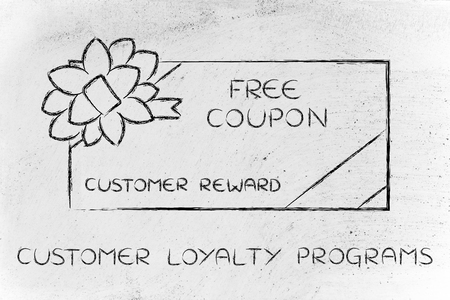 retailers: customer loyalty programs: retailers free coupon with wrapping bow