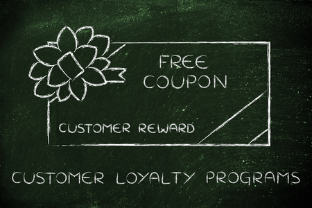 markdown: customer loyalty programs: retailers free coupon with wrapping bow