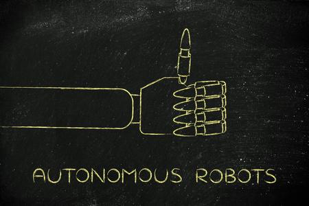 autonomous: autonomous robots: robotic hands making thumbs up gesture