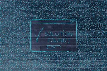 troubleshoot: messy binary code and pop-up message with tick and text Solution Found