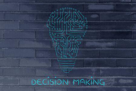 circuitos electronicos: la toma de decisiones: los circuitos electr�nicos que crean la forma de una bombilla