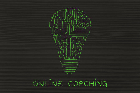 circuitos electronicos: entrenamiento en l�nea: circuitos electr�nicos que crean la forma de una bombilla