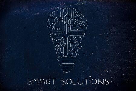circuitos electronicos: soluciones inteligentes: los circuitos electr�nicos que crean la forma de una bombilla