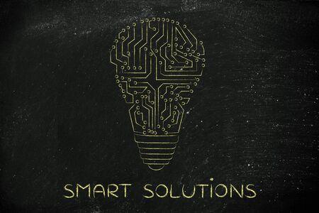 circuitos electronicos: soluciones inteligentes: los circuitos electrónicos que crean la forma de una bombilla