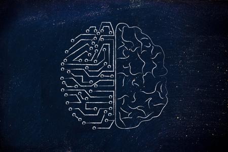 artificial intelligence and human brain comparison design