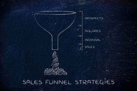 inquiries: sales funnel strategies: Prospects Inquiries Proposal Sales version with coins dropping out