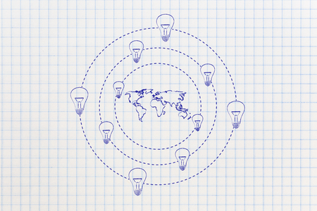 Concept Of Solutions And Ideas For An Hyper Connected World Stock