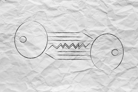algorithms: encryption algorithms and cryptography concepts: matching keys chalk outline illustration