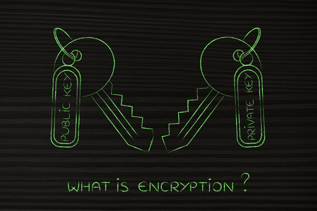 matching: encryption algorithms and cryptography concepts: matching keys with private and public tags Stock Photo