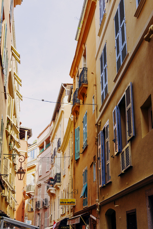 MONACO, MONTECARLO - 06 May, 2016: tiny and colorful streets of Monaco Editorial