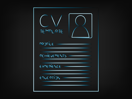 cv illustration highlighting the sections that should be included