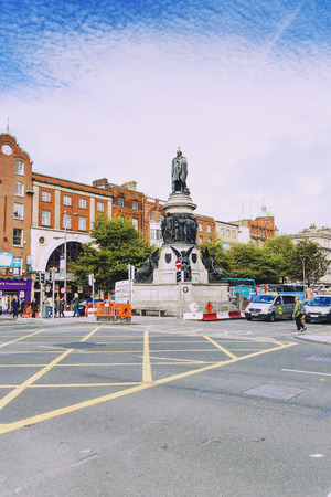 leinster: DUBLIN, IRELAND - Septembter 27th, 2016: View over OConnell street in Dublin One district