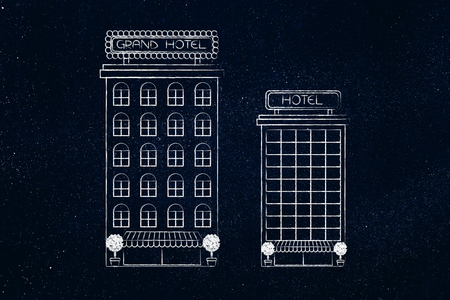 hotel reviews: accomodation options: competitor hotels with different style