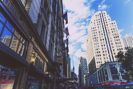 NEW YORK, NY - 3 settembre 2017: Particolare di Herald Square a Midtown Manhattan tra Broadway, la Sesta Avenue e la 34th Street occidentale Archivio Fotografico - 86777229