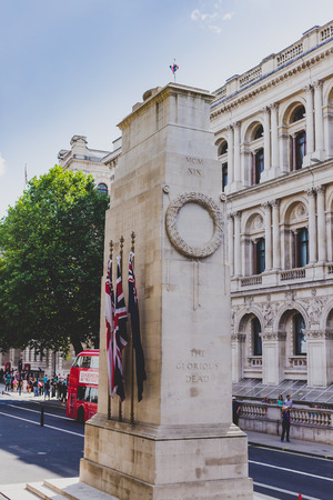 LONDON, UNITED KINGDOM - August 3rd, 2014: the Cenotaph war memorial in London city centre Sajtókép