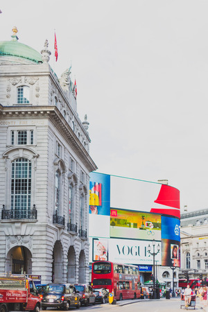 LONDON, UNITED KINGDOM - August 7th, 2014: detail of piccadilly circus in London city centre