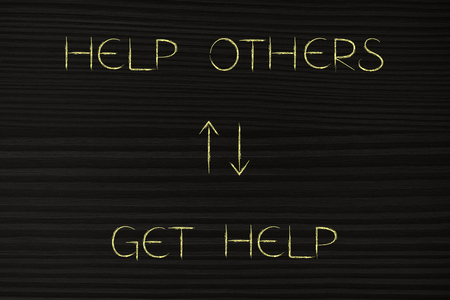 help others more to get more help back, lifestyle and mindset concept Stock Photo