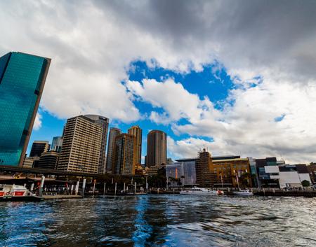 SYDNEY, AUSTRALIA - July 10th, 2013: Circular Quay in Sydney CBD seen from a ferry Editorial