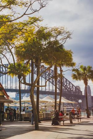 SYDNEY, AUSTRALIA - July 16th, 2013: Sydney Harbour Bridge seen from Circular quay