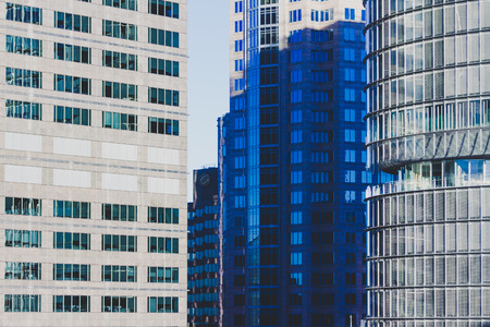 SYDNEY, AUSTRALIA - July 4th, 2013: detail of high-rise buildings in Sydney central business district