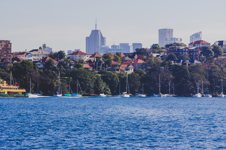 SYDNEY, AUSTRALIA - July 11th, 2013: view of one of Sydney Harbour's beautiful bays Editorial