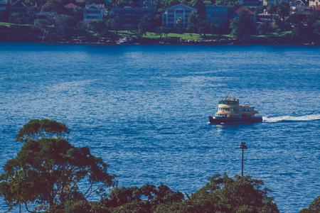 SYDNEY, AUSTRALIA - July 17th, 2013: detail of Sydney harbour bays