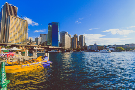 SYDNEY, AUSTRALIA - July 17th, 2013: view of Circular Quay in Sydney Harbour near the Central Business District Editorial